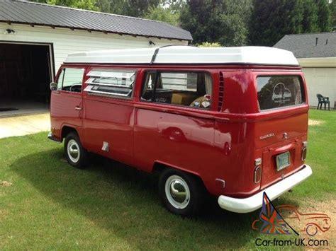 1970 volkswagen vanagon 1970 vw westfalia cer bus montana red