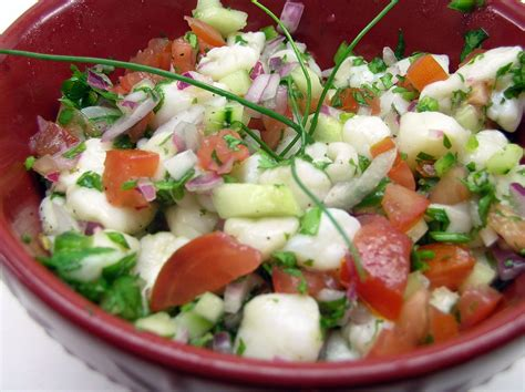 what is in ceviche scallop ceviche recipe dishmaps