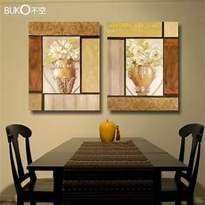 2pcs flower garden painting canvas paintings modern With best brand of paint for kitchen cabinets with wall decor art canvas