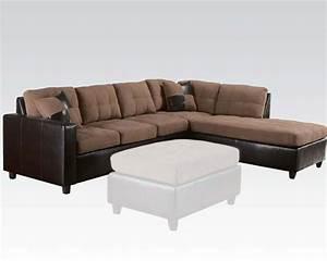 saddle finish reversible sectional sofa milano by acme ac51330 With milano reversible sectional sofa