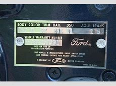 Your Very Own Mustang VIN Decoder