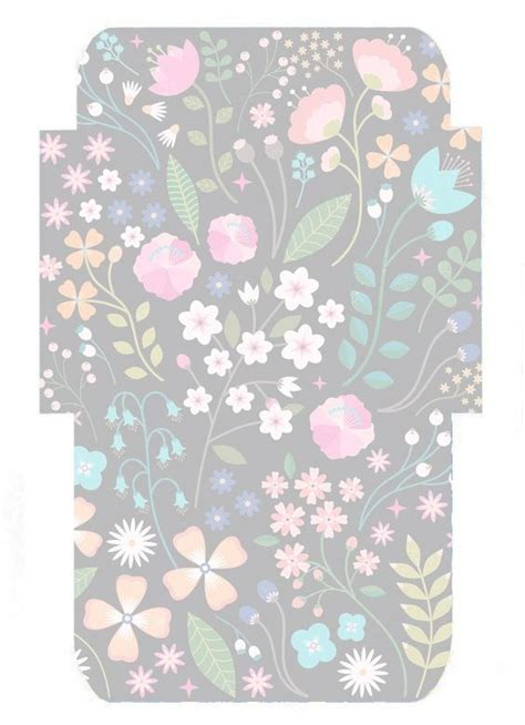 folk floral envelope template printables stationery