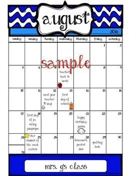 blank editable calendar adrienne leann tpt