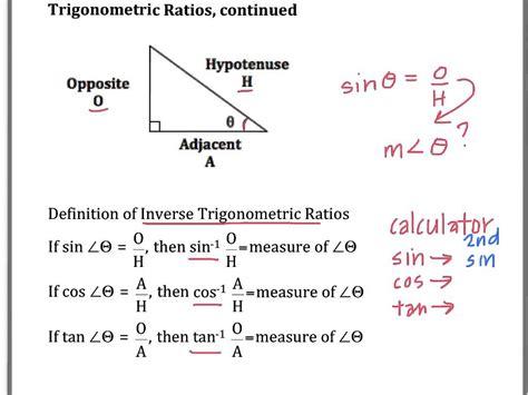 Inverse Trigonometric Ratios Youtube