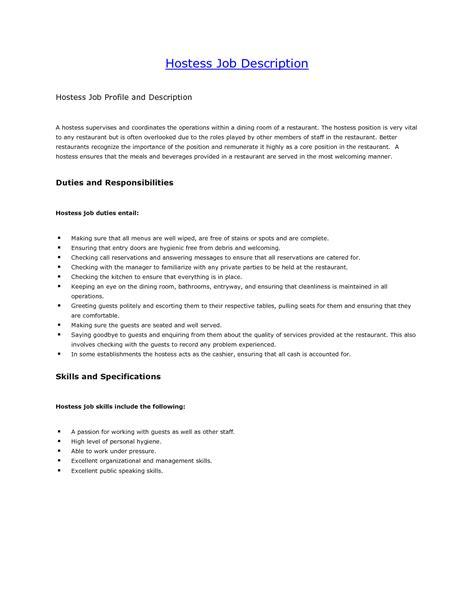 business resume definition hostess job description restaurant restaurant hostess resume description