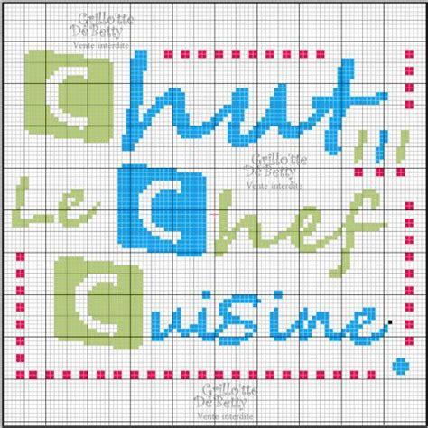 grille de cuisine cuisine kitchen chef point de croix cross stitch