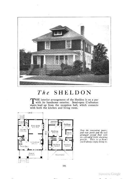 sheldon  american foursquare kit househouse plan homes  character lewis