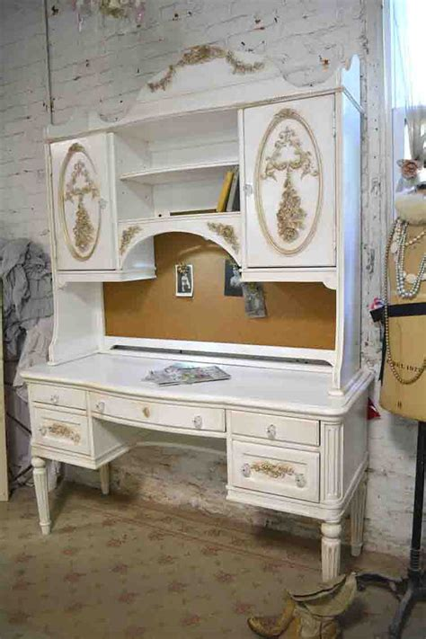 shabby chic desk hutch target painted cottage chic shabby romantic french desk and hutch top dk277gold 1 495 00 the