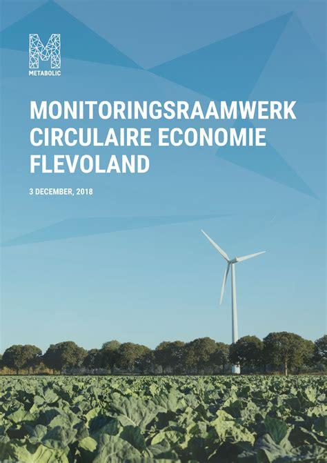 Monitorings-raamwerk Circulaire Economie Flevoland - Metabolic