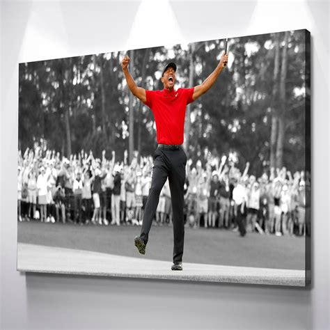 Tiger Woods 2019 Masters Win CANVAS WALL ART Picture Print ...