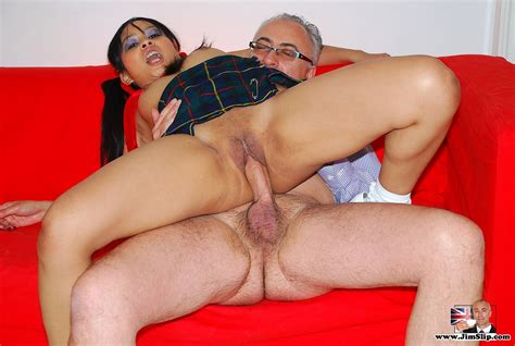 A Horny Asian Schoolgirl Fucking A Very Old Guy Hardcore