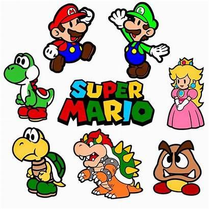 Mario Bros Svg Super Clipart Clip Birthday