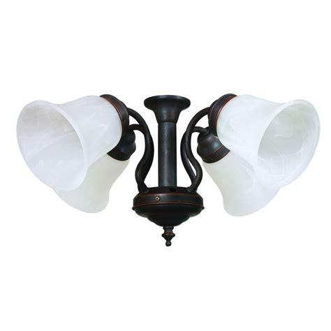 bronze ceiling fan light kit yosemite home decor 4 light oil rubbed bronze ceiling fan
