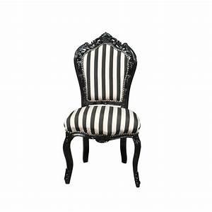 Chaise Baroque Noir : chaise baroque noire et blanche meuble baroque ~ Teatrodelosmanantiales.com Idées de Décoration