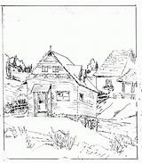Cabin Coloring Log Pages Woods Clipart Adults Printable Drawing Pioneer Sketch Town Template Hut African Getdrawings Popular Draw Templates Library sketch template