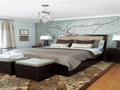 Dark Blue Modern Bedroom, Small Master Bedroom Decorating