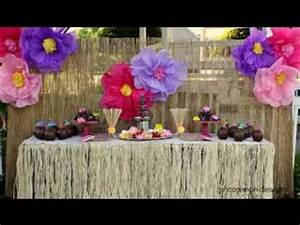 Hawaiian party decorations - YouTube