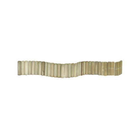 peinture ardoise cuisine bordure à planter 1 2 rondin bois naturel h 20 x l 180 cm leroy merlin