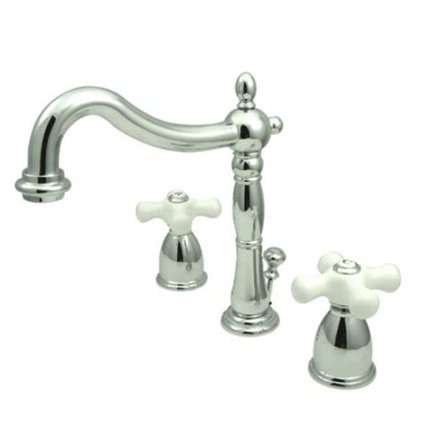 Widespread Bathroom Faucet Cross Handles Kingston Brass Kb1971px Heritage Widespread Lavatory