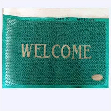 Green Welcome Mat by Pvc Blue And Green Welcome Mats Mat Size 40 Cm X 60 Cm