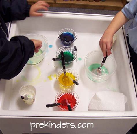 sensory table ideas prekinders 222 | mixing goop