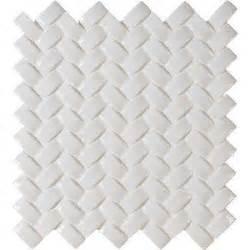 whisper white arched herringbone 12 in x 12 in x 8 mm
