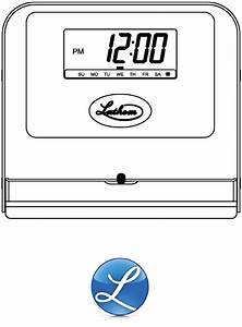 Lathem Time Clock 800p User Guide