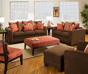 Simmons upholstery eden espresso living room set living for Sears furniture living room