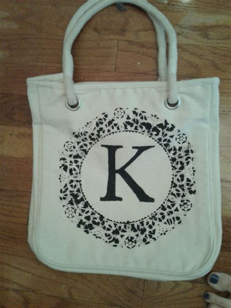 diy doily canvas bag diy tote bag diy reusable grocery bags painted canvas bags