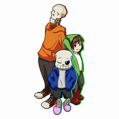 Trio Bad Sticker Undertale Chara Papyrus Sans