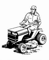Mower Lawn Coloring Pages Farm Tractor Mowing Clipart Equipment Clip Riding Mowers Colouring Cartoon Cliparts Man Cartoons Machines Farmer Library sketch template