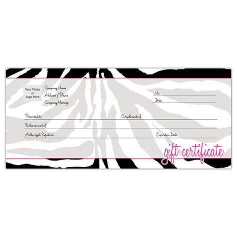 order customizable gift certificates zebra iprintcom