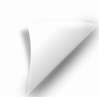Curl Clipart Paper Curled Transparent Bend Jooinn