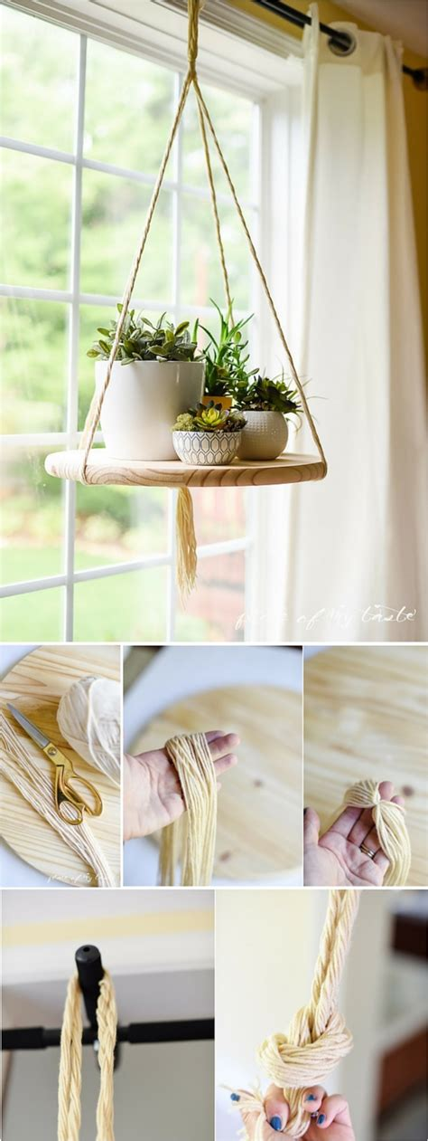 diy hanging shelves perfect   room   home ritely