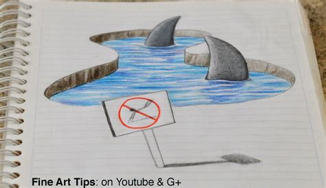 style notebook bird drawing 3d sharks on my notebook 3d anamorphic drawing