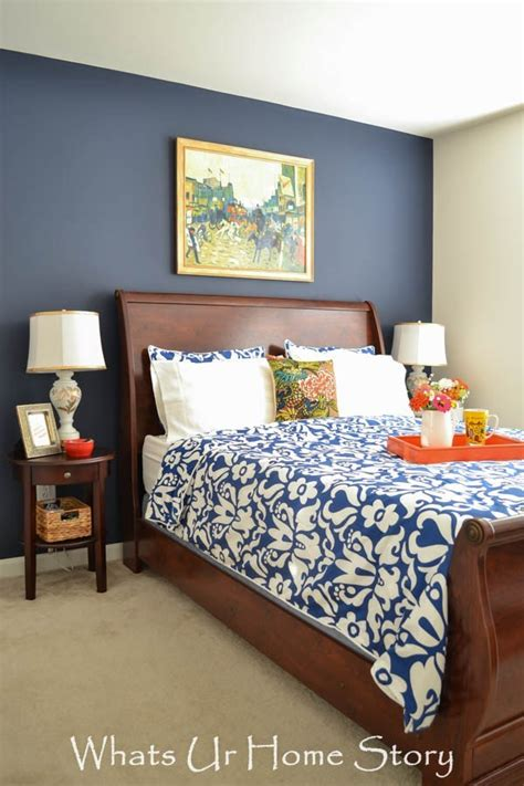 navy  coral bedroom whats ur home story
