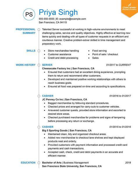 resume formats   livecareer