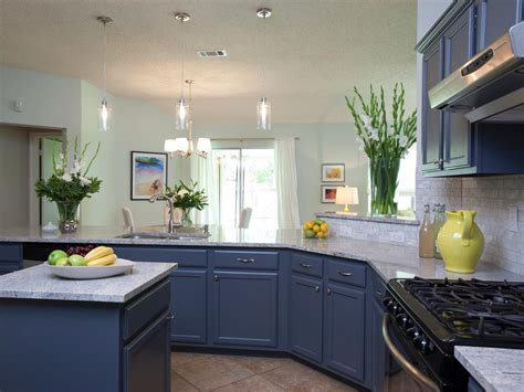 blue kitchen walls white cabinets paint it blue combining colour ideas for your simple 7941