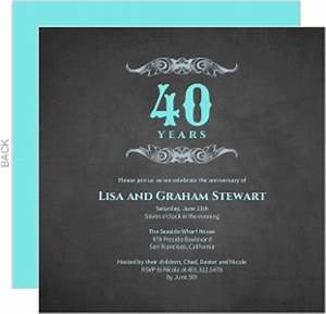 cheap 40th anniversary invitations invite shop With cheap 40th wedding anniversary invitations