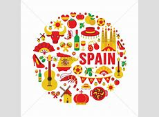 Collection of spain icons Vector Image 1565071