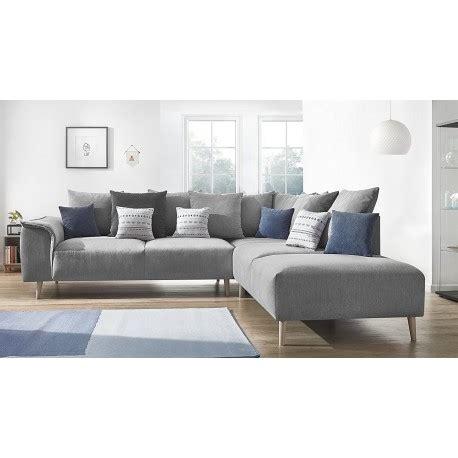 canapé d angle scandinave canapé d 39 angle style scandinave en tissu gris