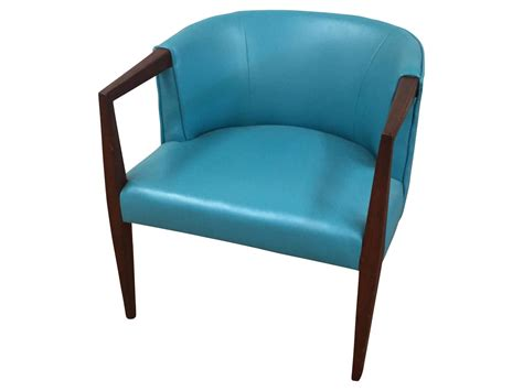 mid century turquoise vinyl club chair for sale at 1stdibs