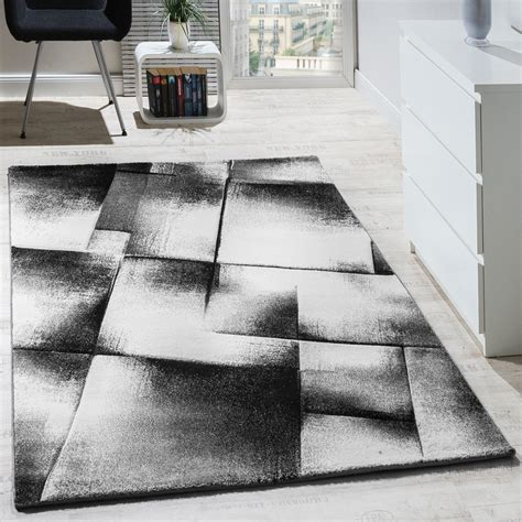tapis design moderne salon tapis poils ras chine gris