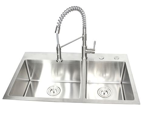 36 Inch Top Mount / Drop In Stainless Steel 60/40 Double