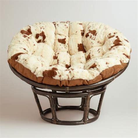 papasan chair cushions world market cowhide faux fur papasan cushion world market