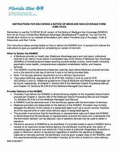 Instructions for delivering a notice of medicare non coverage form fill online printable for Kepro fax cover sheet