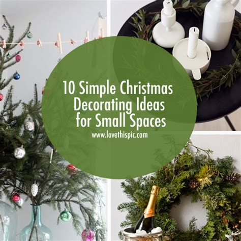 simple christmas decorating ideas  small spaces