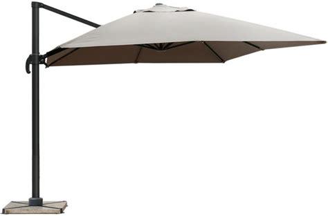 parasol d 233 port 233 rectangulaire taupe en toile alberick parasol pas cher