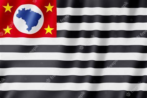 Bandeira Do Estado De São Paulo No Brasil Foto Premium