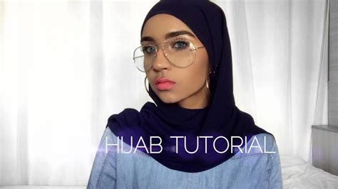 everyday hijab tutorial  earrings glasses dolly